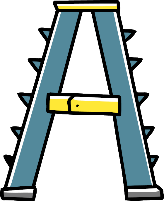 Ladder clipart rope ladder. A frame scribblenauts wiki