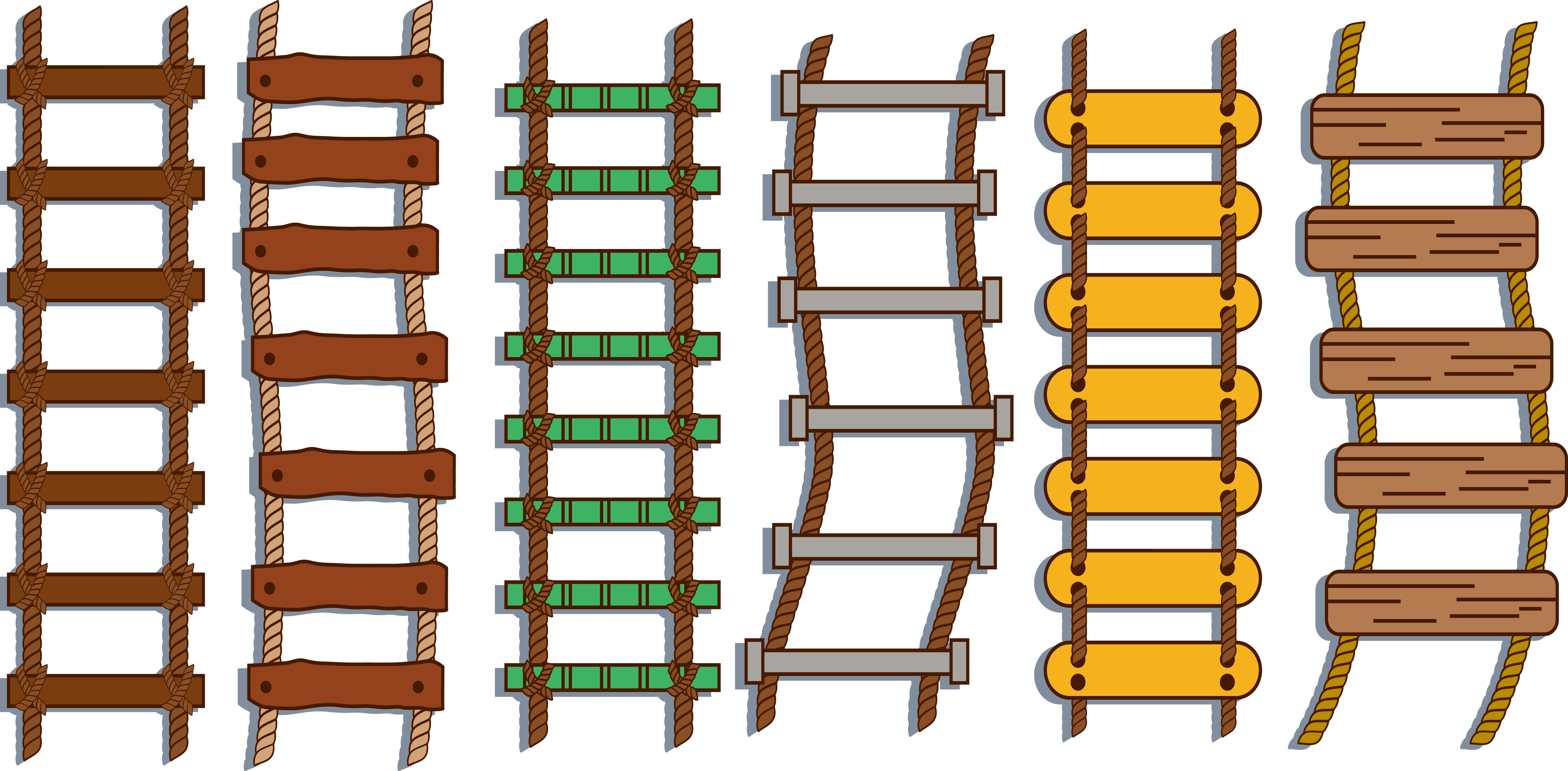 Stairs repstege. Ladder clipart rope ladder