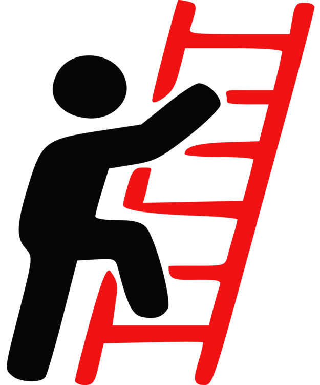 Human behavior area text. Ladder clipart safety