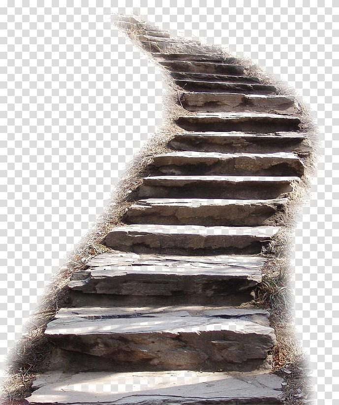 Brown wooden illustration stairs. Ladder clipart staircase