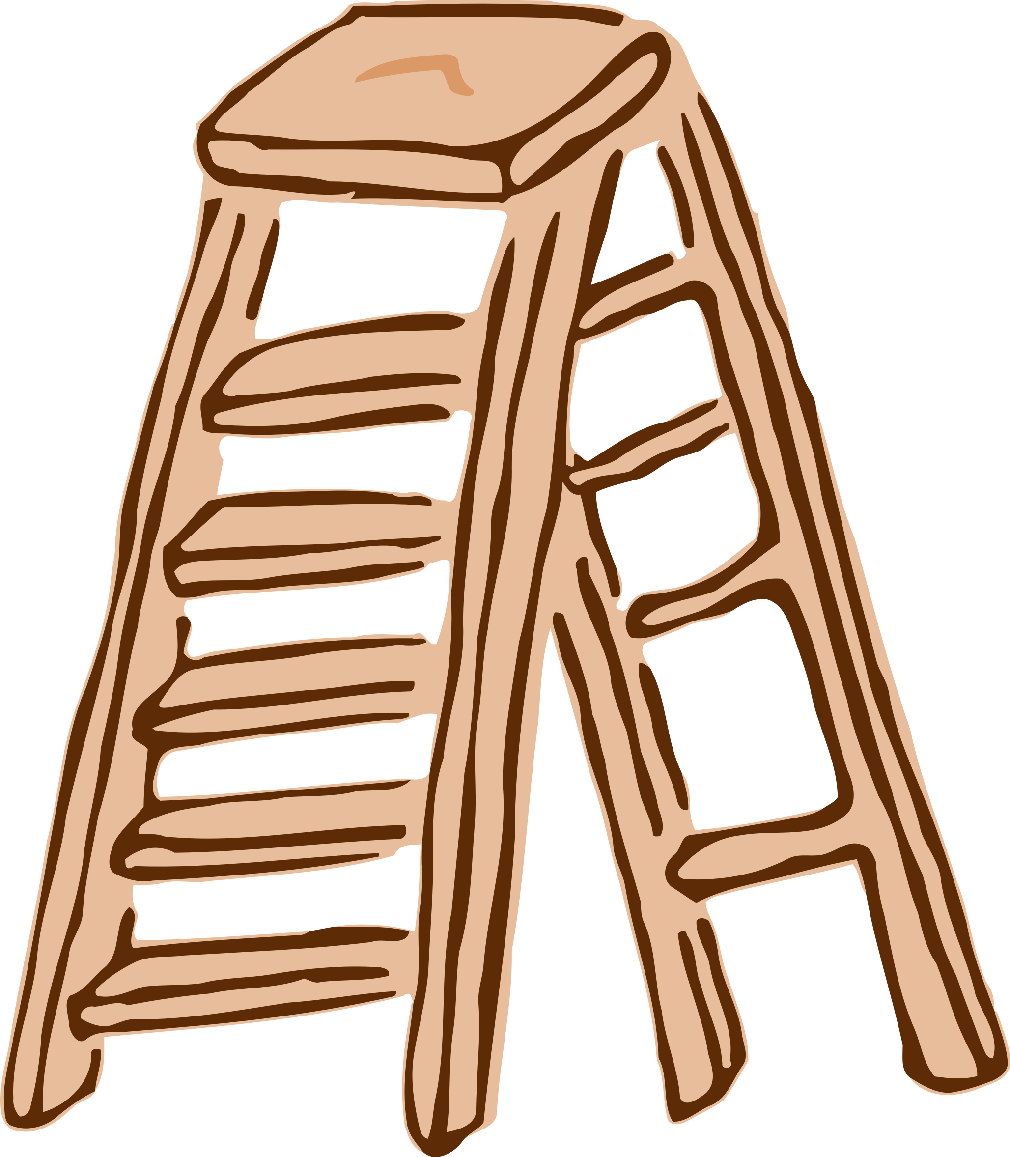 Roughly drawn stepladder big. Ladder clipart step stool