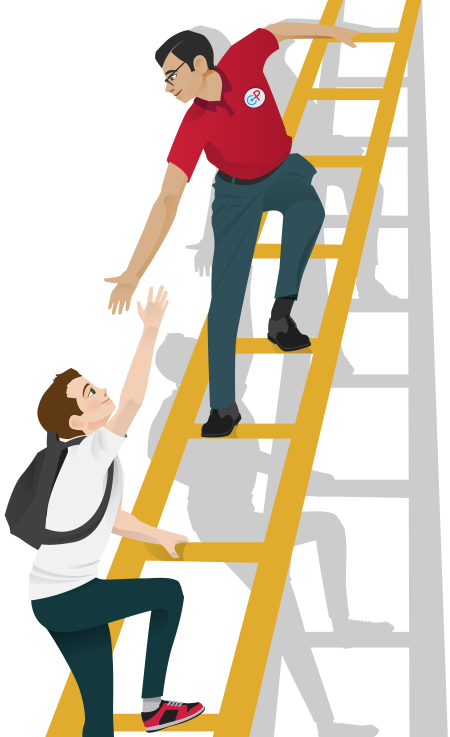 Ladder clipart student. Of success png pic