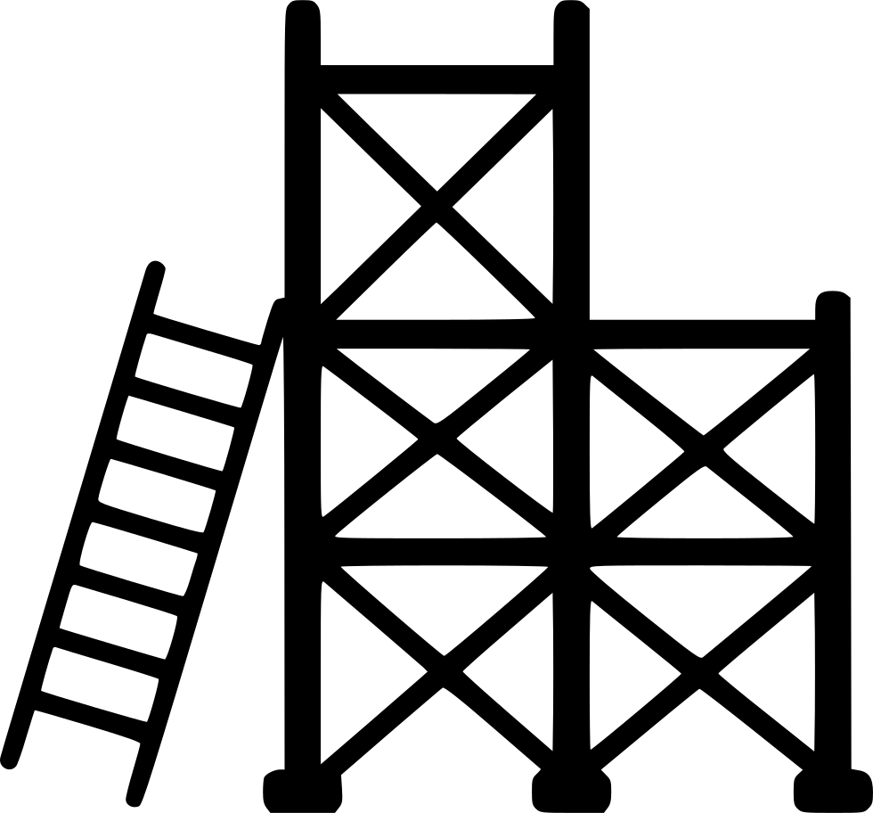Scaffold png icon free. Ladder clipart svg