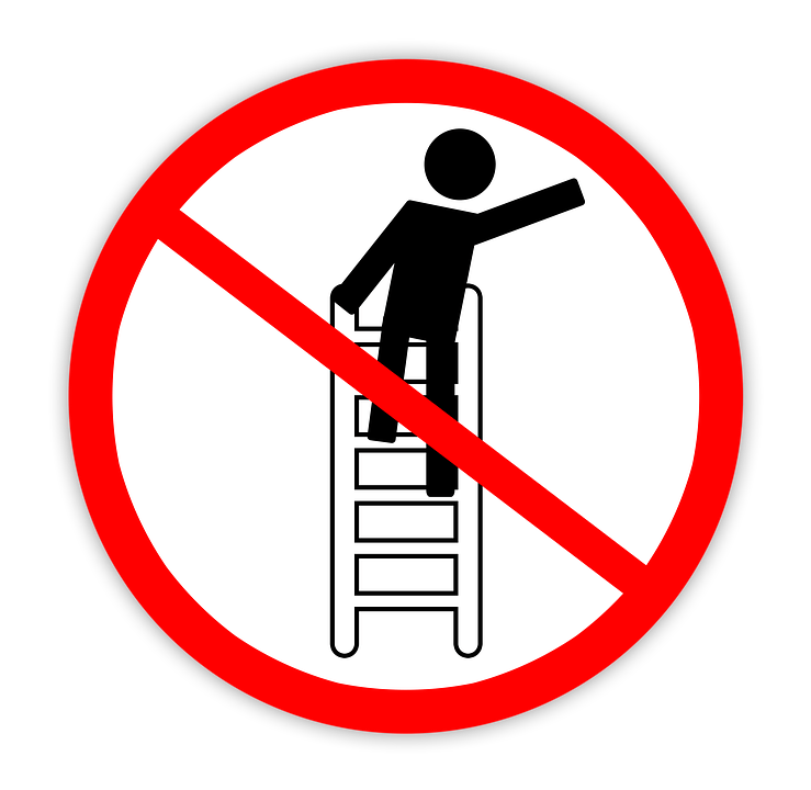 Ladder clipart tall ladder. How to use a