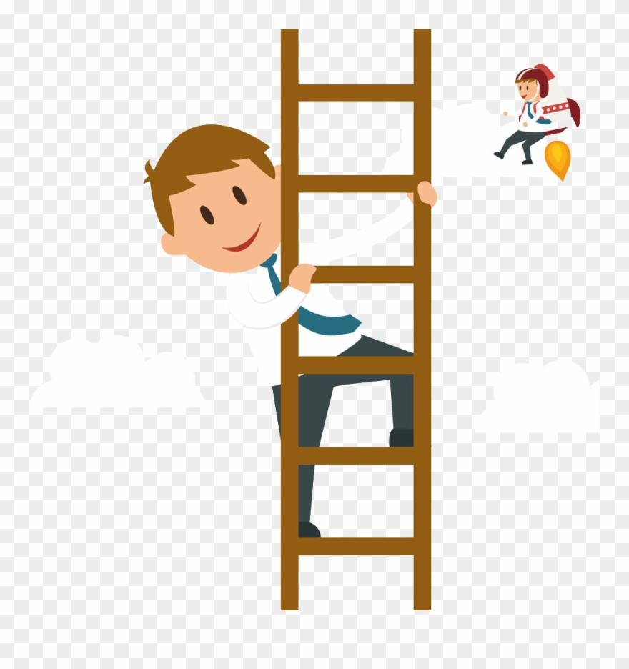 Ladder clipart to climb. Svg climbing a cartoon