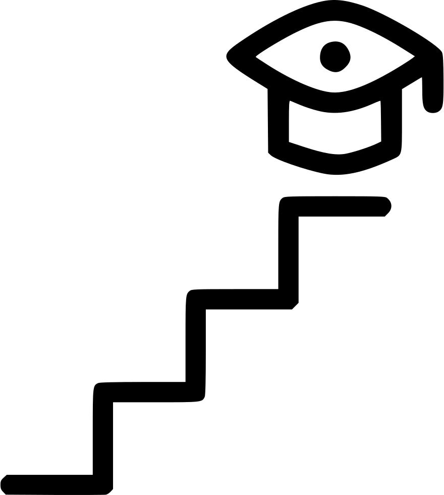 Higher studies graduation college. Ladder clipart to climb