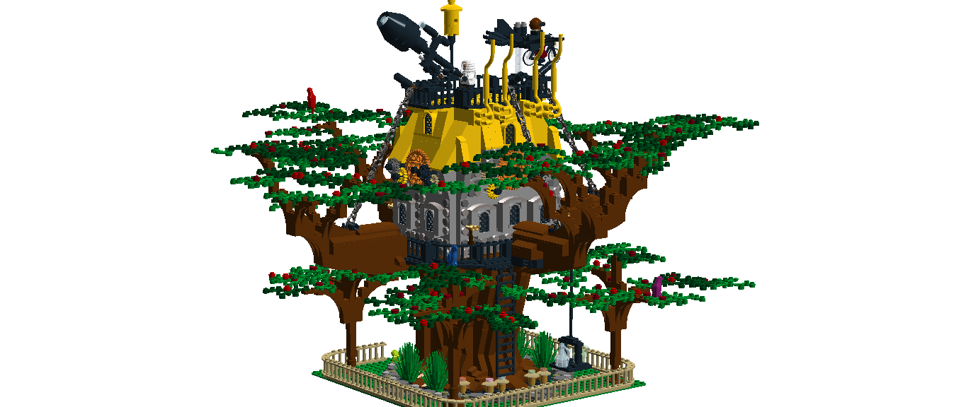 Lego ideas product steampunk. Ladder clipart tree fort
