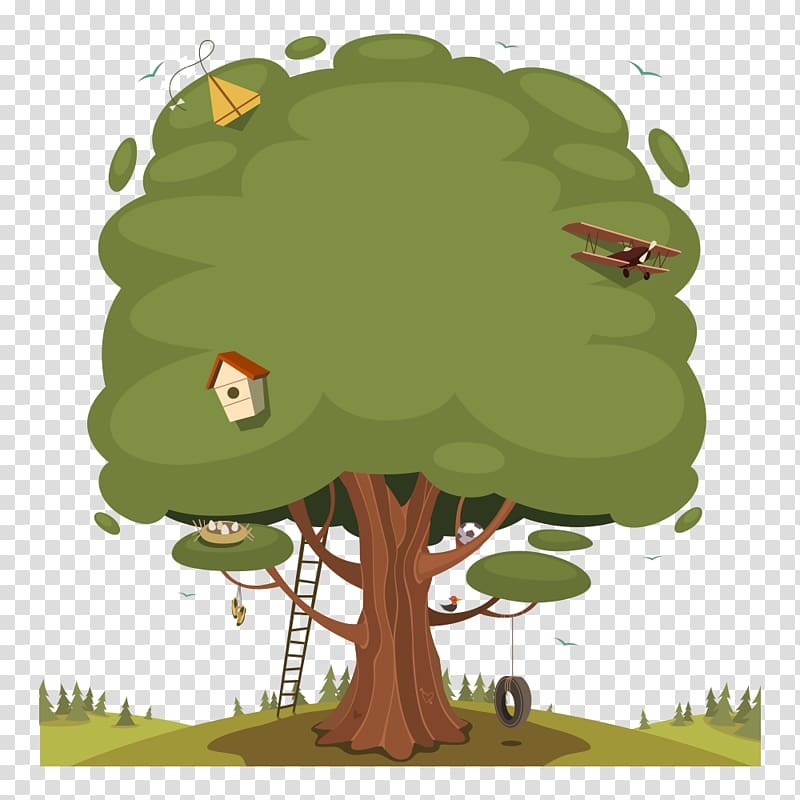 Ladder clipart tree fort. With swing transparent background