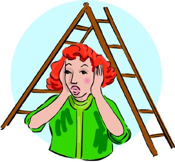 Ladder clipart walk under ladder. Free cliparts download clip