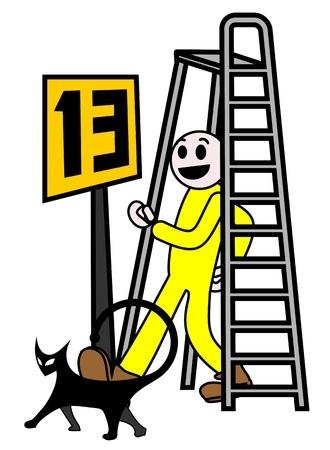 Walking a clip art. Ladder clipart walk under ladder