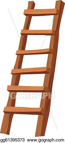 Vector illustration wooden eps. Ladder clipart wood ladder