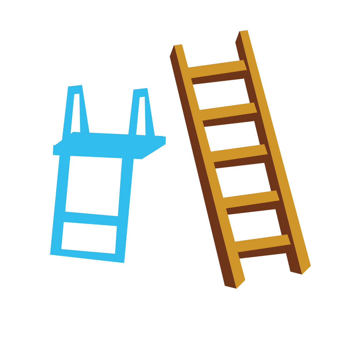 Stairs rope blue wooden. Ladder clipart wood ladder