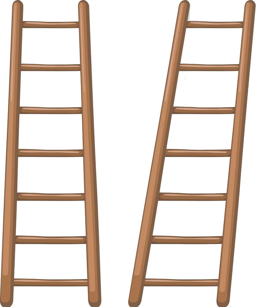 Ladder clipart wood ladder. Cartoon clip art wooden