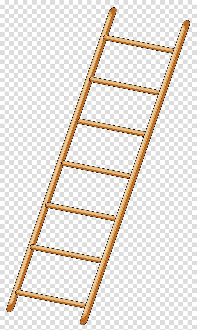Ladder clipart wooden ladder. Brown drawing yellow