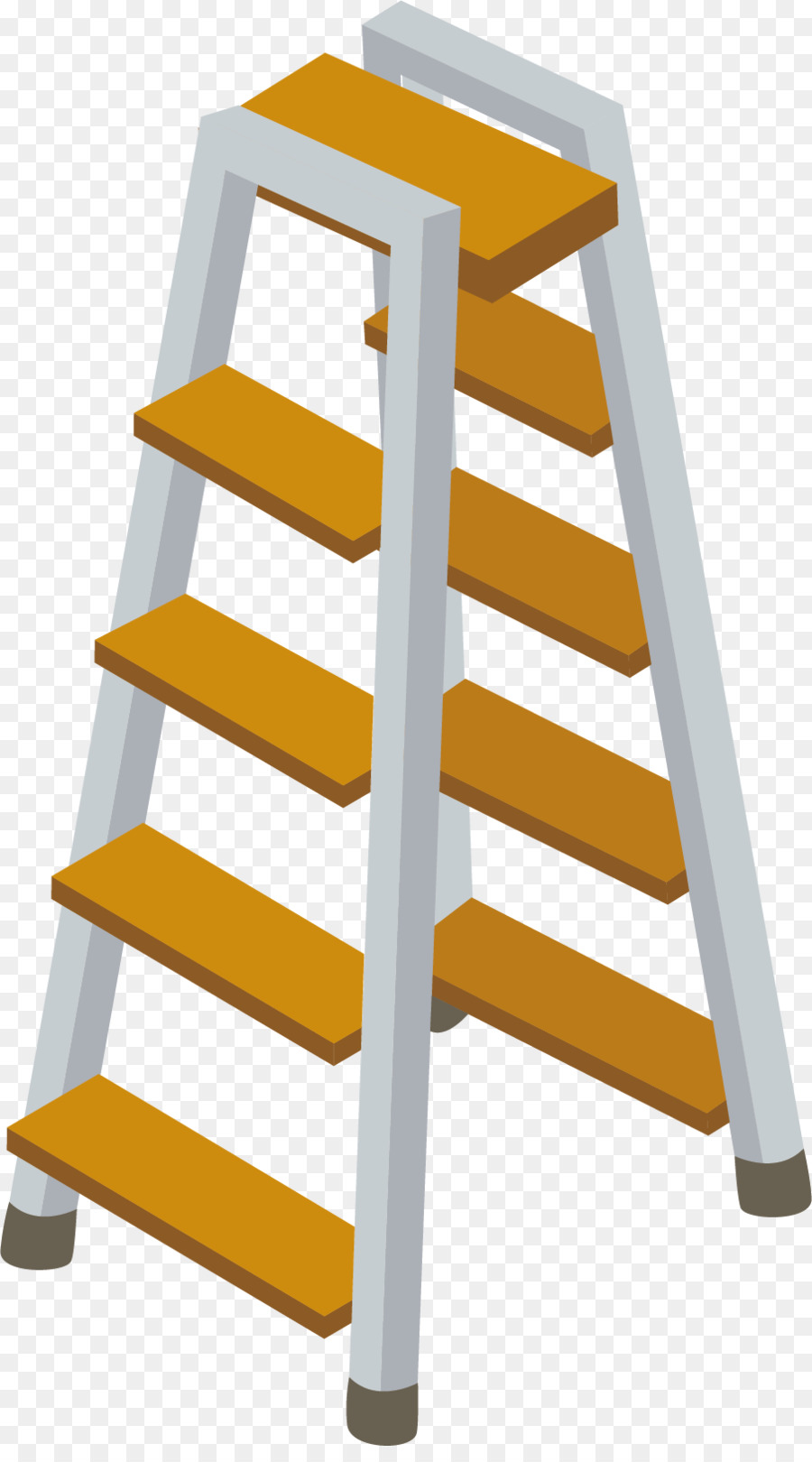 Ladder clipart yellow ladder. Cartoon png download free