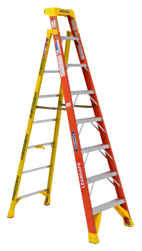 New leansafe leaning farrell. Ladder clipart yellow ladder