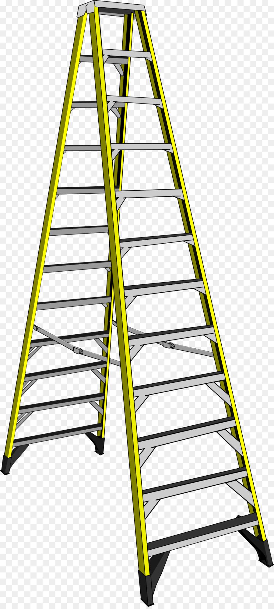 Cartoon transparent clip art. Ladder clipart yellow ladder