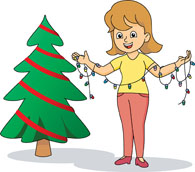 Search results for clip. Lady clipart christmas