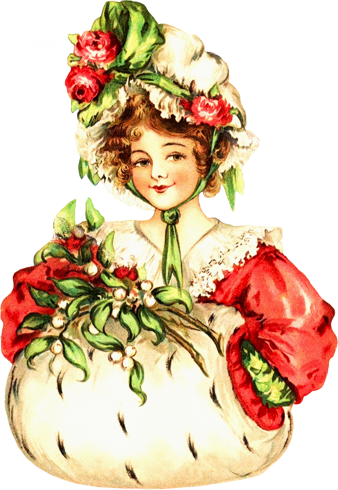 Victorian . Lady clipart christmas