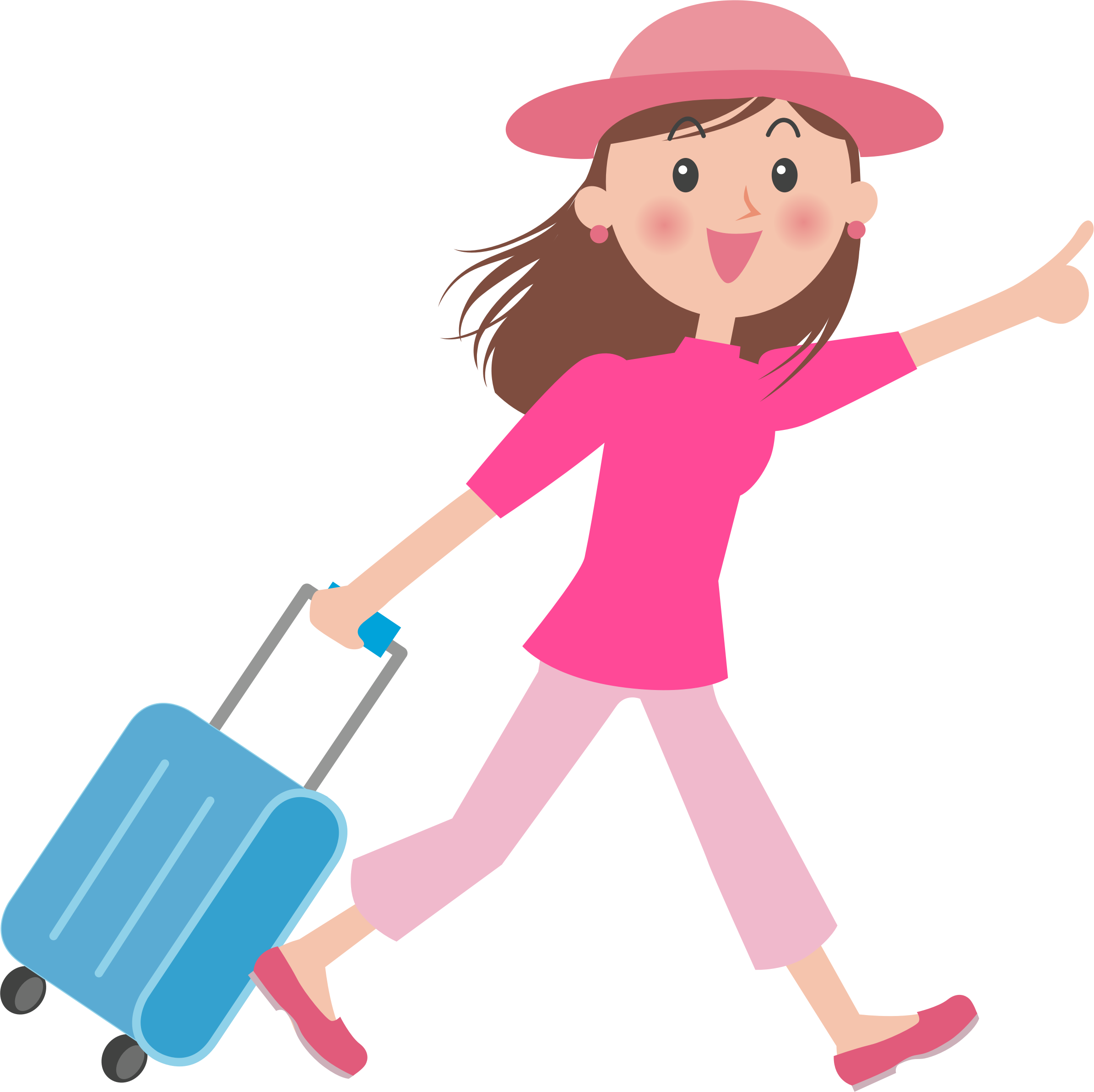 Luggage clipart cartoon. Pulling big image png