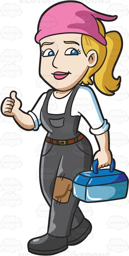 Mechanic clipart lady. A female car gesturing