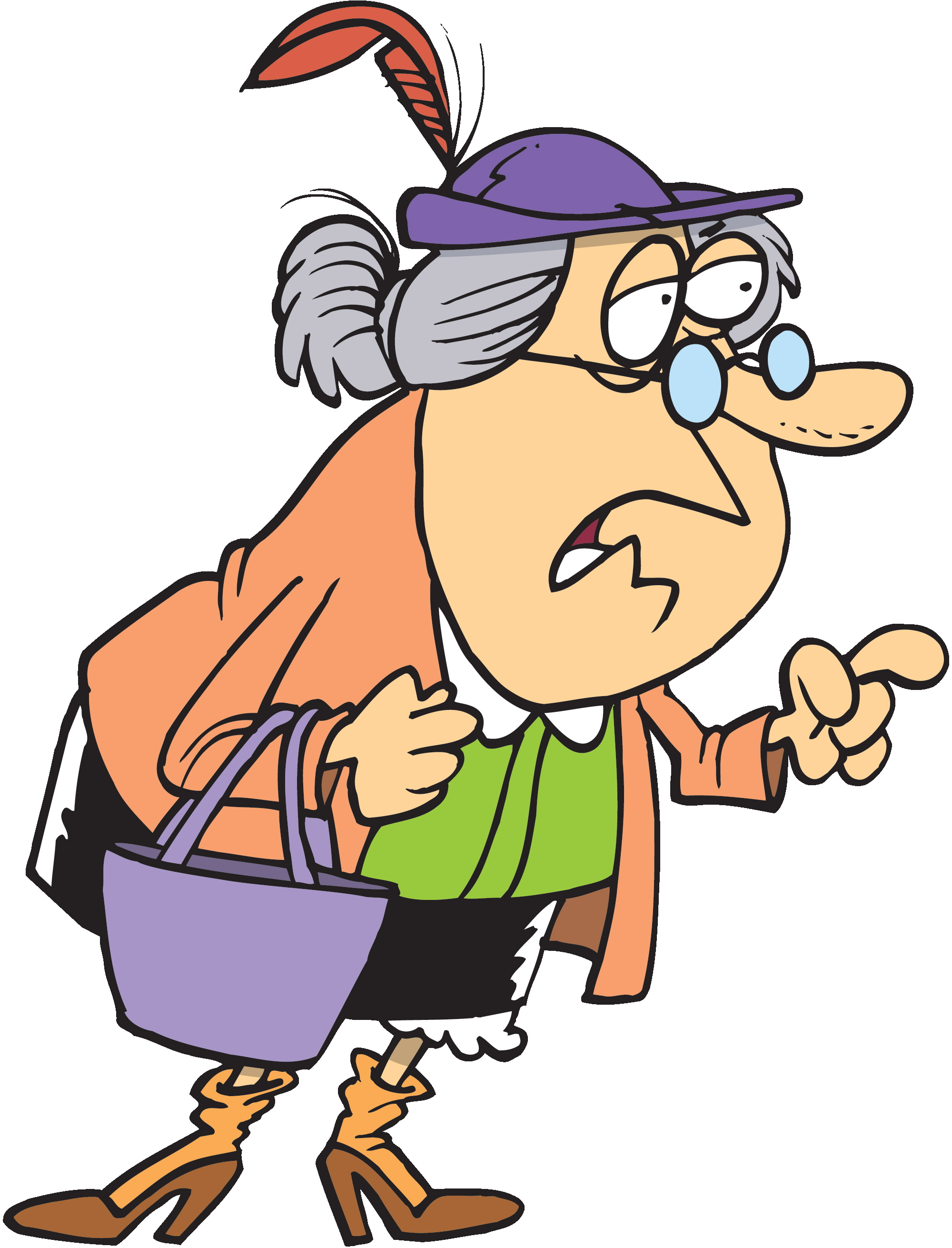 Free cartoon of old. Lady clipart older