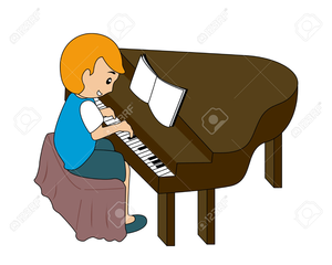 Lady playing free images. Piano clipart cartoon play