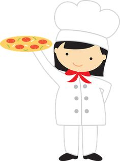 best chef s. Lady clipart pizza