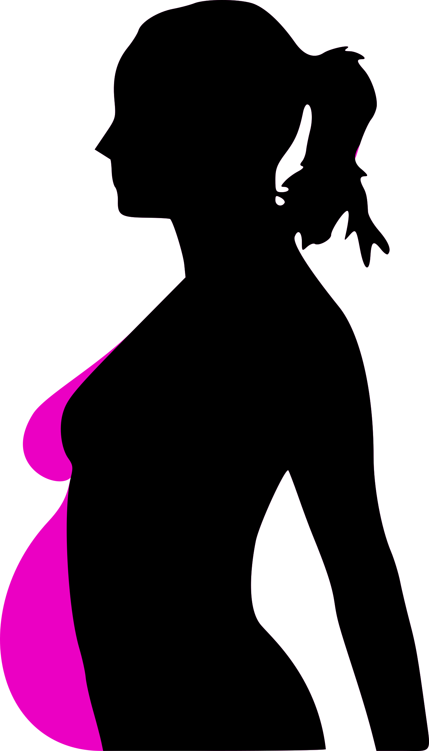 Pregnancy silhouet big image. Lady clipart pregnant