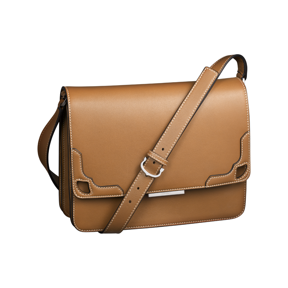 Cartier brown women bag. Lady clipart purse