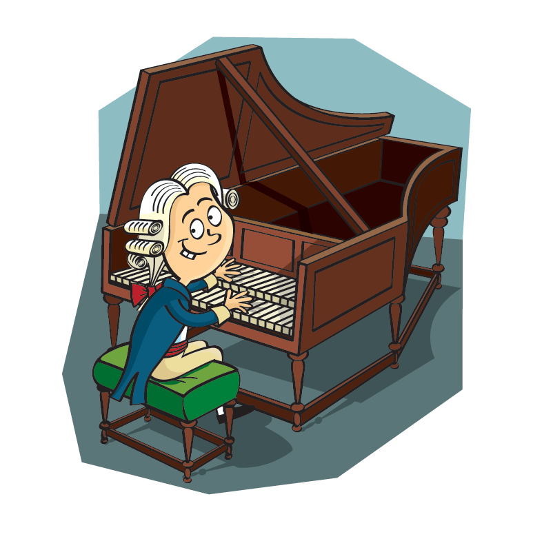 Alan rowe freelance illustrator. Piano clipart comic