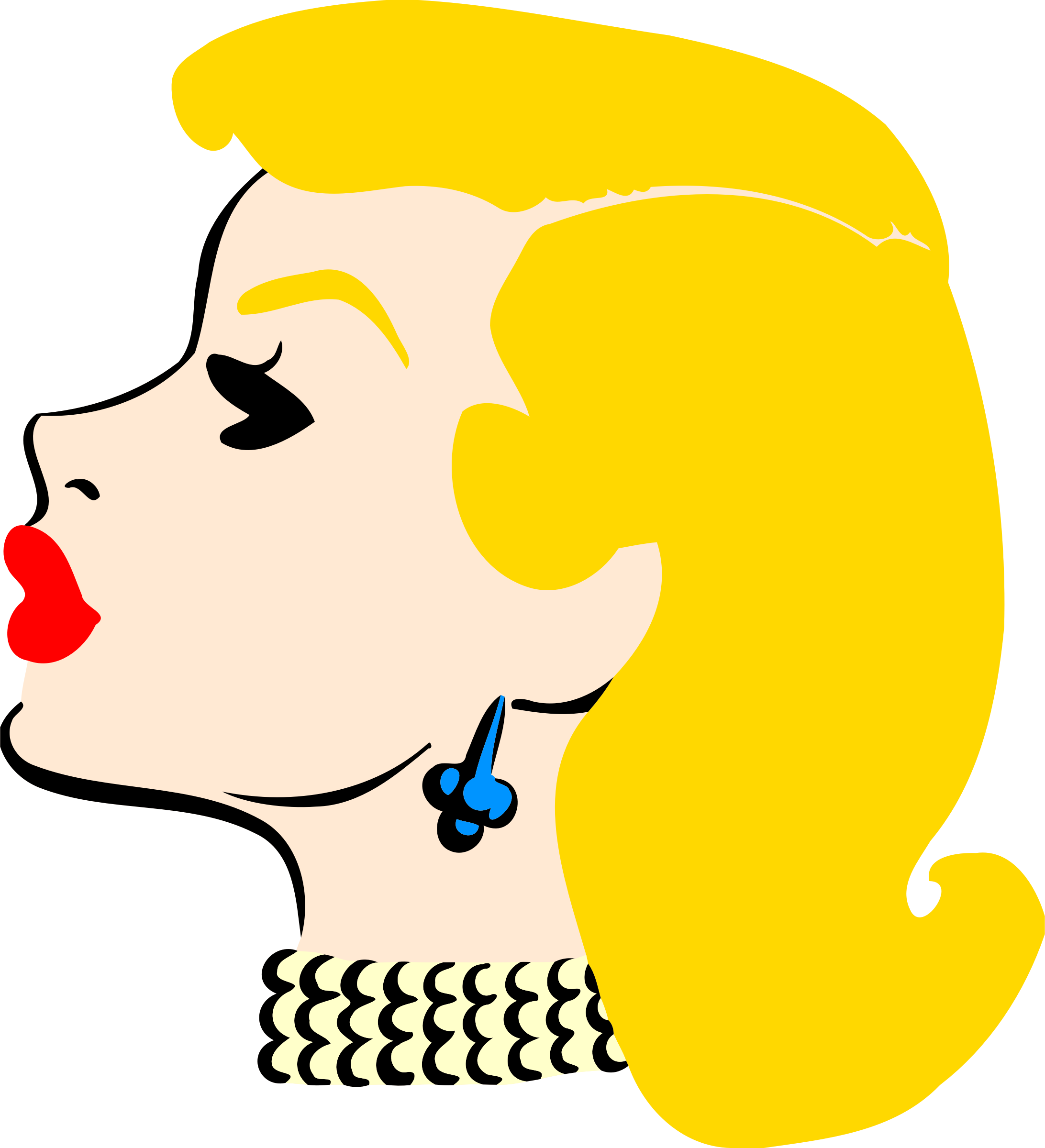 Lady clipart side view. S head in profile