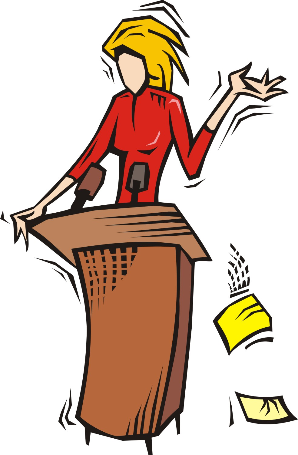 Free woman speaker cliparts. Speakers clipart lady