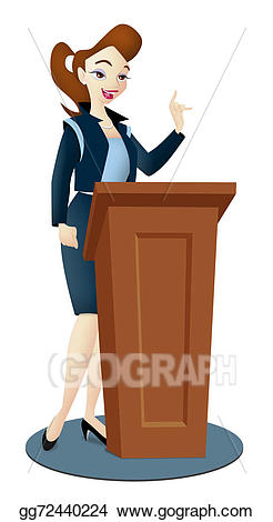Drawing gg gograph . Lady clipart speaker