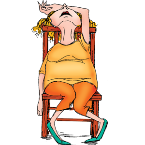 Free exhausted woman cliparts. Tired clipart exhausting