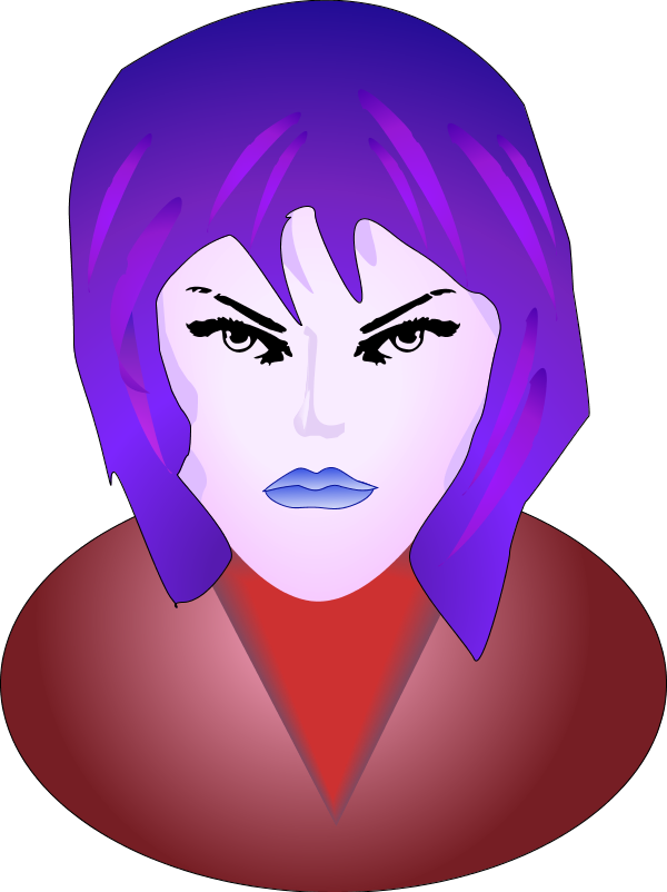Free angry woman cliparts. Lady clipart wife