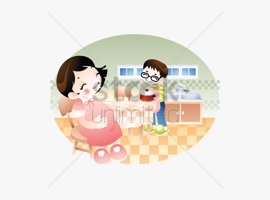 Lady clipart wife. Pin woman cooking husband
