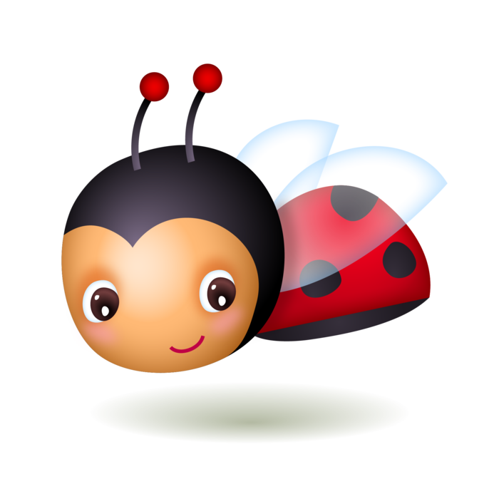 Cute baby . Ladybug clipart angry