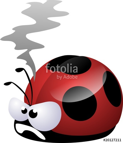 Ladybug clipart angry. Stock photo and royalty