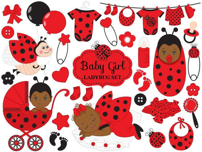 Item vector african american. Ladybug clipart baby shower