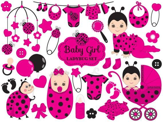 Ladybug vector ladybird girl. Ladybugs clipart baby shower