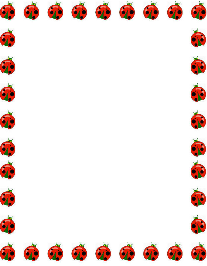 Ladybug clipart banner. Border cliparts zone