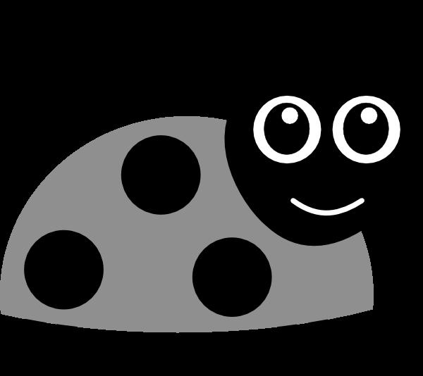 Ladybug clipart black and white. Grayscale clipartblack com animal