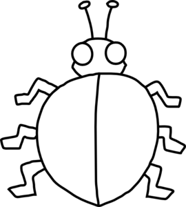 Ladybugs clipart blank. Ladybird with no spots
