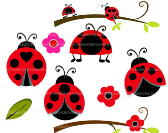 Ladybug clipart branch. Cute free download best