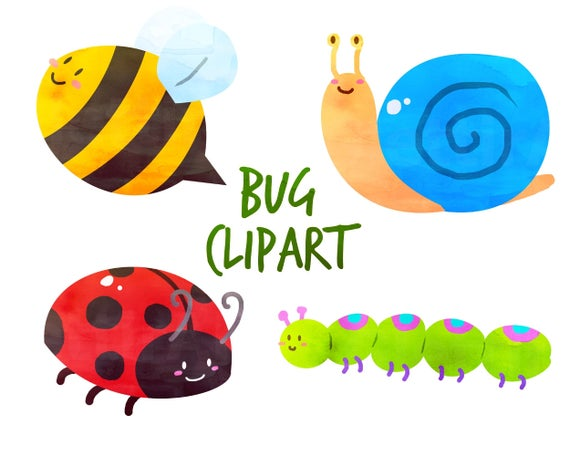 Ladybug clipart butterfly. Cute bugs for personal