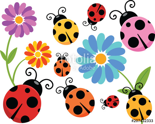 Stock image and royalty. Ladybug clipart cartoon