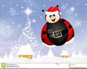 Free images at clker. Ladybug clipart christmas