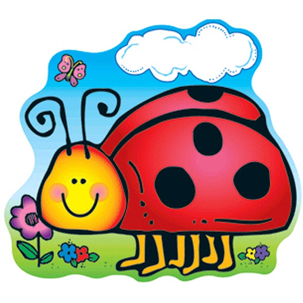 Ladybug clipart classroom decoration. Two sided dec