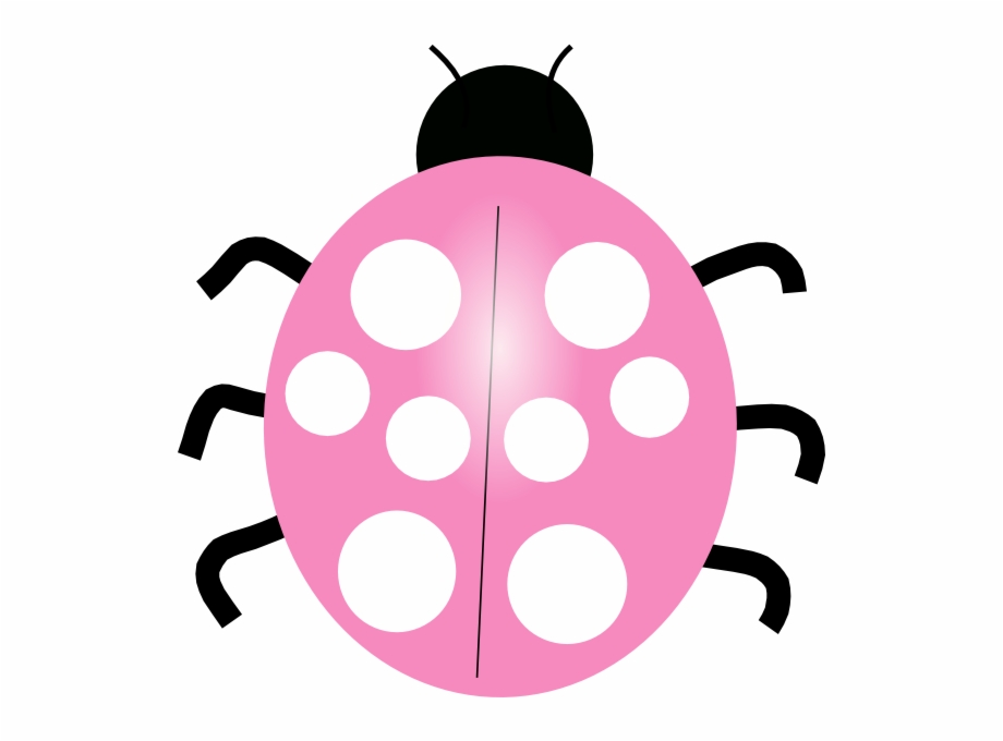 Pink clip art of. Ladybug clipart colored